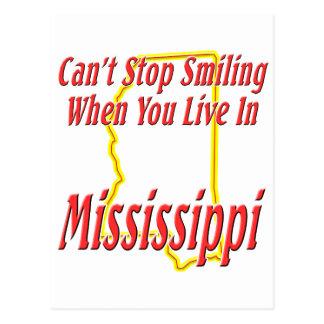 Mississippi - sonriendo tarjeta postal