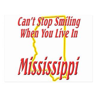 Mississippi - sonriendo tarjetas postales