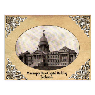 Mississippi State Capitol Old Postcard