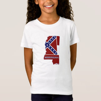 Mississippi State Flag and Map Children's T-Shirt