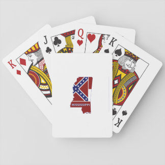 Mississippi State Flag and Map Playing Cards