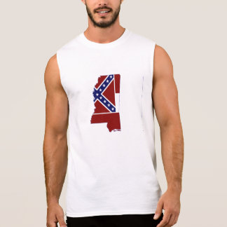 Mississippi State Flag and Map Sleeveless Tee