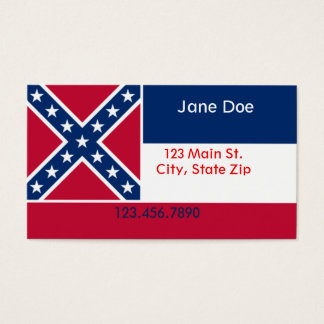 Mississippi State Flag Business Cards