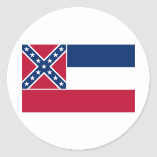 Mississippi State Flag Classic Round Sticker