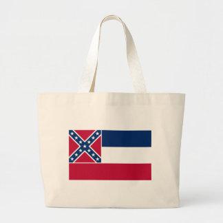 Mississippi State Flag Jumbo Tote Bag