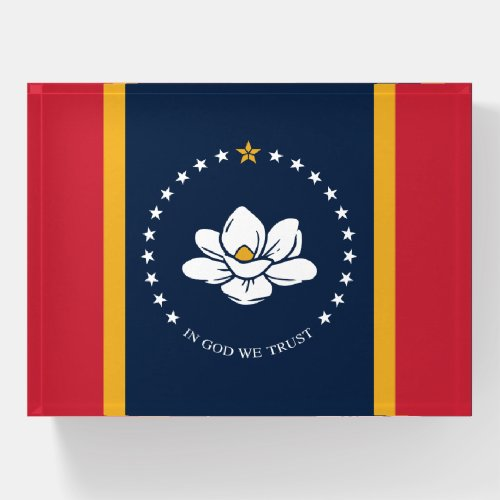Mississippi State Flag Paperweight