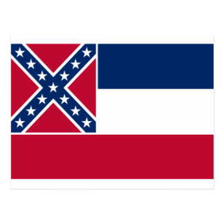 Mississippi State Flag Postcard