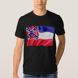 Mississippi State Flag Waving Tee Shirt