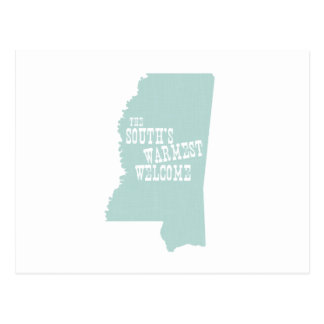 Mississippi State Motto Slogan Postcard