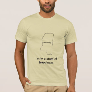 Mississippi state of happiness teeshirt map T-Shirt
