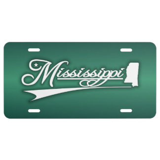 Mississippi State of Mine License Plate