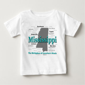 Mississippi State Pride Map Silhouette Tee Shirt