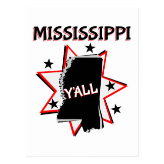 Mississippi State Y'all Postcard