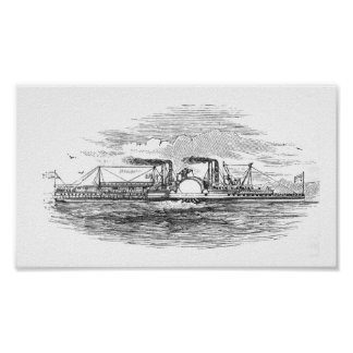 Mississippi Steamboat 1854 Posters