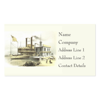 Mississippi Steamboat City of Memphis, 1860 Double-Sided Standard Business Cards (Pack Of 100)
