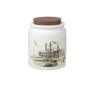 Mississippi Steamboat City of Memphis, 1860 Candy Dish