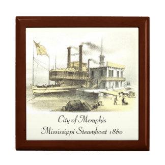 Mississippi Steamboat City of Memphis, 1860 Keepsake Box