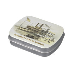 Mississippi Steamboat City of Memphis, 1860 Jelly Belly Tin at Zazzle