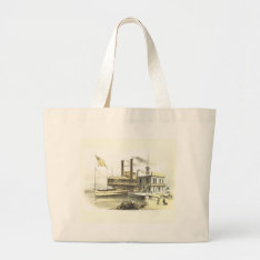 Mississippi Steamboat City Of Memphis, 1860 Large Tote Bag at Zazzle