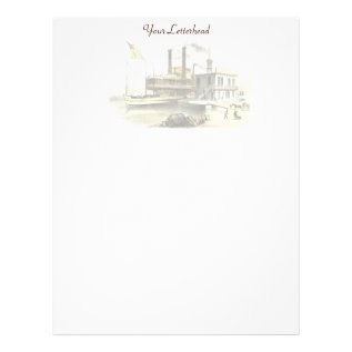 Mississippi Steamboat City Of Memphis, 1860 Letterhead at Zazzle
