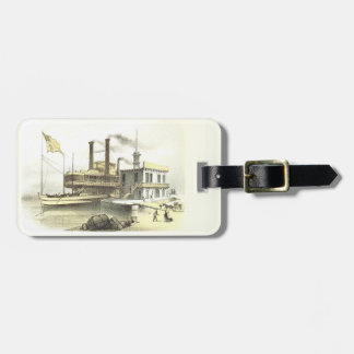 Mississippi Steamboat City of Memphis, 1860 Tag For Luggage