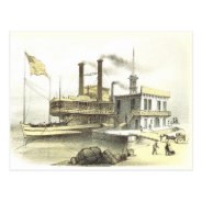 Mississippi Steamboat City Of Memphis, 1860 Postcard at Zazzle