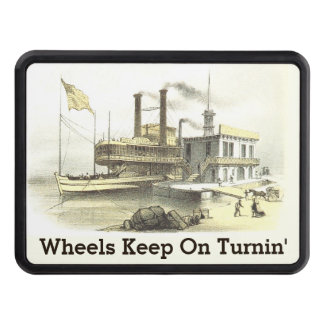 Mississippi Steamboat City of Memphis, 1860 Tow Hitch Cover