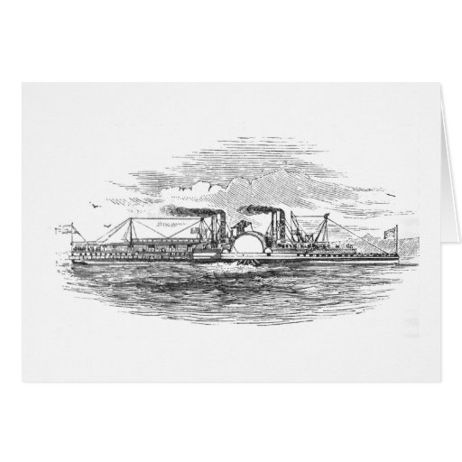 Mississippi Steamboat Greetings Card