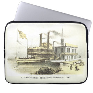 Mississippi Steamboat The City of Memphis, 1860 Laptop Computer Sleeve