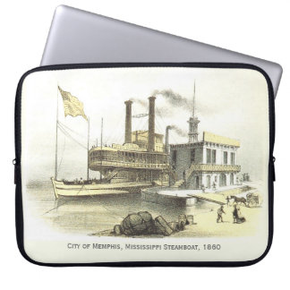 Mississippi Steamboat The City of Memphis, 1860 Laptop Sleeve