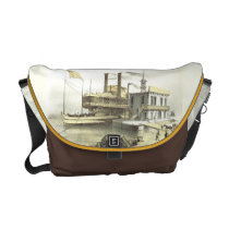 Mississippi Steamboat The City of Memphis, 1860 Messenger Bag at  Zazzle