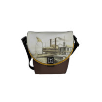 Mississippi Steamboat The City of Memphis, 1860 Courier Bag at  Zazzle