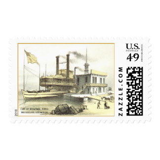 Mississippi Steamboat The City of Memphis, 1860 Postage Stamps