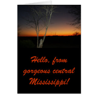 Mississippi Sunset by Allison Greeting Card