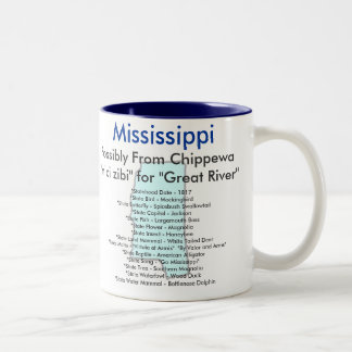 Mississippi Symbols & Map Coffee Mugs