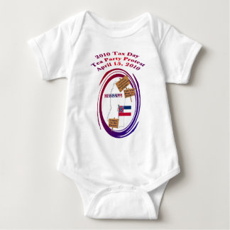 Mississippi Tax Day Tea Party Protest Baby Bodysuit