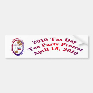 Mississippi Tax Day Tea Party Protest Bumper Sticker