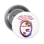 Mississippi Tax Day Tea Party Protest Button