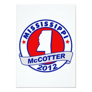 Mississippi Thad McCotter 5x7 Paper Invitation Card