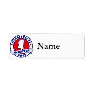 Mississippi Thad McCotter Label