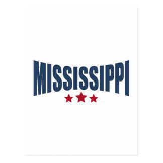 Mississippi Three Stars Design Postcard