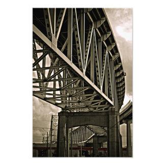 Mississippi tiende un puente sobre bragueros fotografía