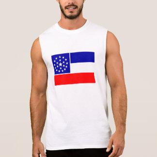 Mississippi unofficial flag sleeveless t-shirt