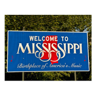 Mississippi Welcome Sign Postcard
