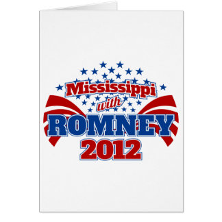 Mississippi with Romney 2012 Card