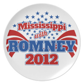 Mississippi with Romney 2012 Dinner Plate