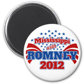 Mississippi with Romney 2012 Magnet