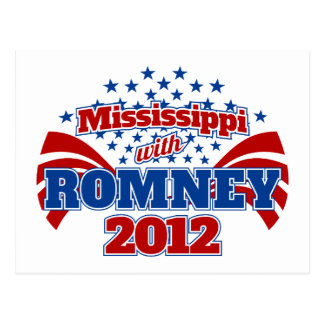Mississippi with Romney 2012 Postcard