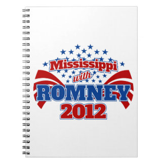 Mississippi with Romney 2012 Spiral Notebook