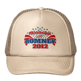 Mississippi with Romney 2012 Trucker Hat